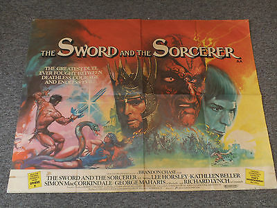 THE SWORD AND THE SORCEROR (1982) - UK Quad Cinema Movie Poster G