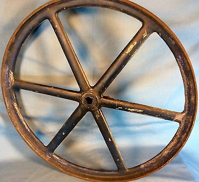 Antique Cast Iron Industrial Wheel Gear Pulley Old Salvaged Repurpose