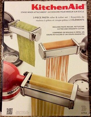 Perfect Kitchenaid 3 Piece Pasta Roller And Cutter Set Maker Stand Mixer Attachment New C With Design Inspiration