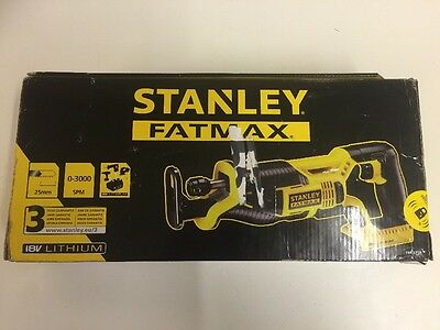 Stanley FatMax 18V Reciprocating Saw - No Battery -FMC675B -JX  Brand-New