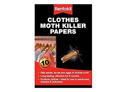 Rentokil FA115 Clothes Moth Papers Pack of 10