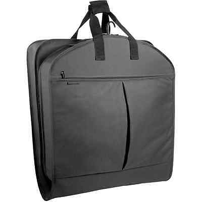 WallyBags 40 Inch Garment Bag with Pockets, Black, One Size