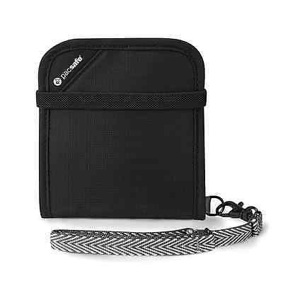 Pacsafe RFIDsafe V100 Anti-Theft RFID Blocking Bi-Fold Wallet, Black