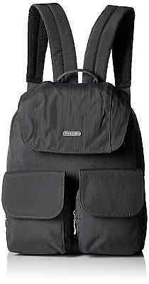 Baggallini Mission Travel Backpack, Charcoal, One Size