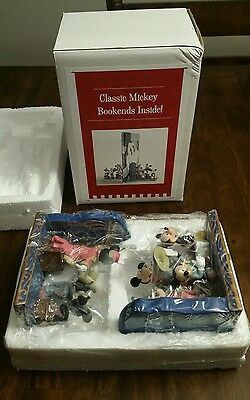 Disney Mickey Mouse Through the Years Classic Bookends Steamboat Willie Sorcerer