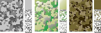 A5 Airbrush Stencils Military Army Digital Camouflage Texture Plate Camo