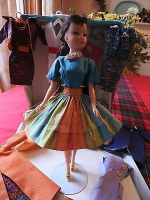 RARE! Vintage Uneeda Miss Suzette Barbie Clone Doll w/ Many VHTF Rare OUTFITS