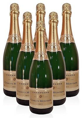 (29,33€/L)Charles Montaine Champagne Brut 12,50% vol.  6 x 0,75 L