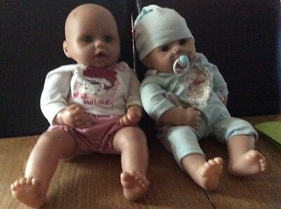 "17"" Baby Annabell Talking Dolls Boy And Girl by Zapf Creations"