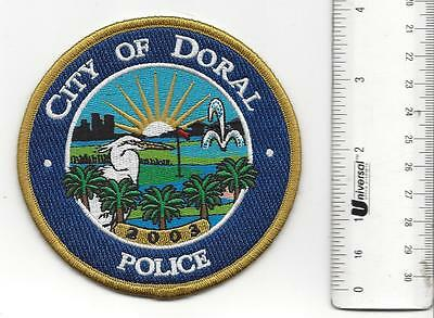 Doral City FLORIDA Police  Patch FL in great shape