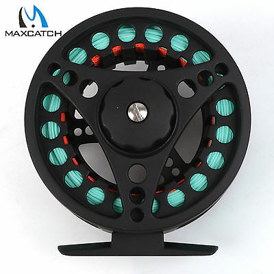 Maxcatch Fly Reel Combo 3/4/5/6/7/8WT Large Arbor Aluminum Fly Fishing reel&Line