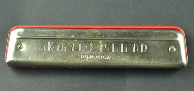 Vintage Old Melodia Koncertino Harmonica Made In Poland