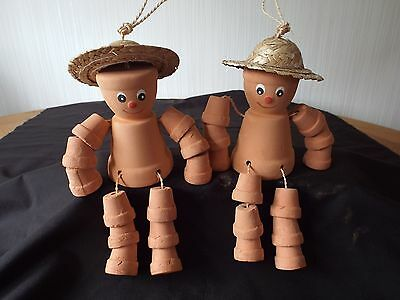 Pair of Flower Pot Men Garden Ornament - Brand New In Box