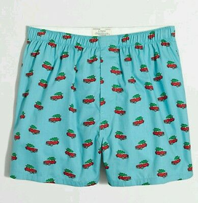 J Crew FESTIVE BOXERS Christmas Holiday NWT Medium Large Extra Large M L XL
