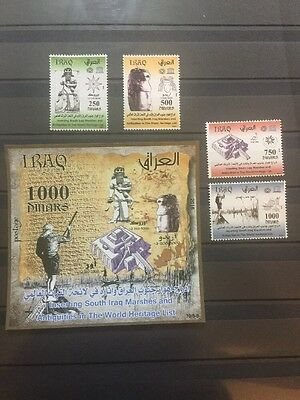 Iraq December 2016 Stamps MNH Marshes & Antiquities Gilgamsh Lion Of Eridu