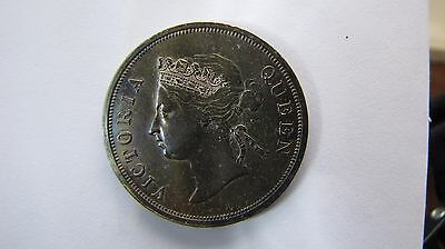 Straits Settlements 50 Cents 1890-H very high grade