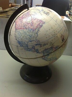 "FREE SHIPPING!! Vintage 12"" Rand McNally, Terrestrial Globe World"