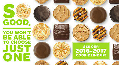 2017 Girl Scout Cookies 4 Boxes - NEW and FRESH - Order Today, Arrives Soon!