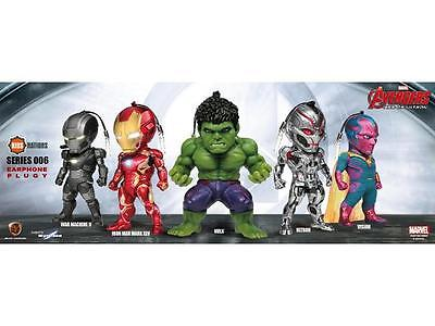 KN-006 MARVEL AVENGERS AGE OF ULTRON LED EARPHONE PLUG Figur SET Comic NEU