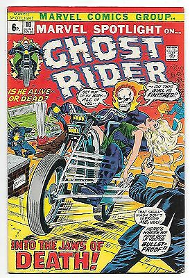 Marvel Spotlight #10: Ghost Rider (Marvel 1973; vf) 50% off price guide value