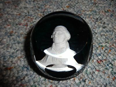 Vintage 1982 Daughters Of The Revolution George Washington Crystal Paper Weight