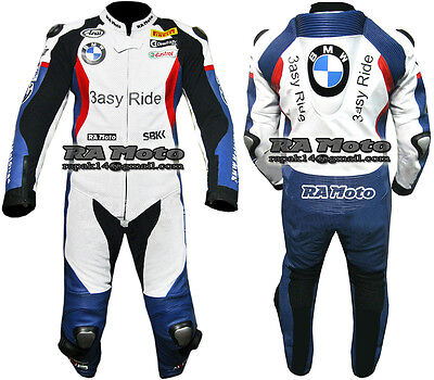 BMW Motorcycle Motorbike Leather racing 1 & 2 piece Suit