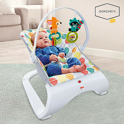 Fisher-Price Baby Infant Comfort Curve Bouncer Chair Calming Vibration, NEW