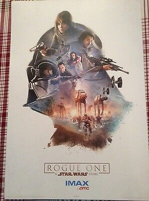 Star Wars AMC Exclusive IMAX Rogue One Poster Complete Set