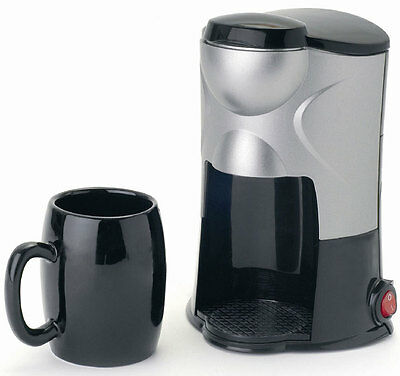 All Ride 1 Cup Coffee Maker with Cup and Cigarette Plug 24V