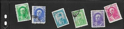 SIX Persian stamps, used  Unsure of age.