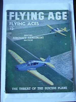 FLYING ACES Aug 1945 Hans Groenhoff cover G/VG American Pulp