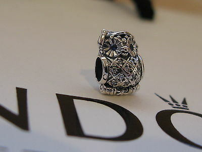 Genuine Pandora Silver Graduate Owl Charm 791502NSB Authentic