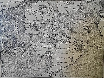 1540 Antique Map Of The New World - Munster's Edition Of Ptolemy - Reproduction