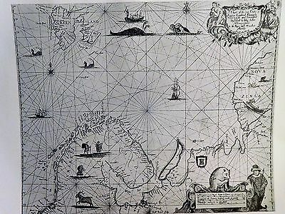 1671 Antique Map Of The Coasts Of Northern Europe - John Seller - Reproduction
