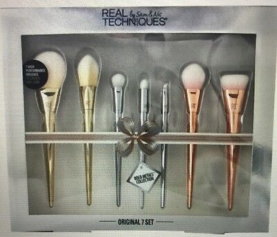 Real Techniques Bold Metals Ultimate Brush Set RRP£120 *LIMITED EDITION*