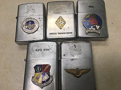 Lot of 5 US Military Lighters - Zippo, Vulcan, Sure-Fire