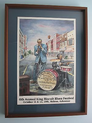 Sonny Boy Williams King Biscuit Blues Festival Framed Art signed by Jack Kerby