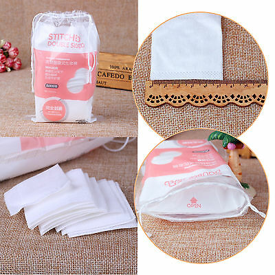100x Pocket Soft Cotton Gauze Tissue Cleansing Pad Makeup Remover 4 Thin Layers