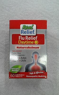 Real Relief Homeolab Flu Daytime Naturcoksinum Tablets, 60 Count