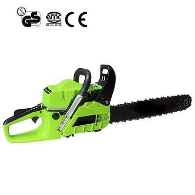 """New 62cc Petrol Chainsaw, 20"""" Bar & 2x Saw Chain. Alloy & Assisted Start(MANUAL)"""