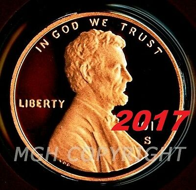 2017 S PROOF Lincoln Shield Cent Penny Coin Deep Cameo GEM directly from Mint