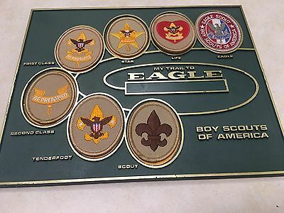 Trail to Eagle Rank Patch Display