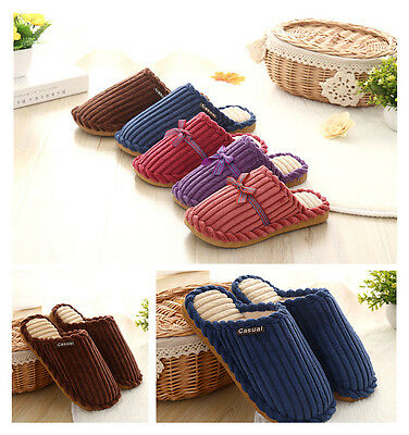 Men's Soft Warm Indoor corduroy Slippers Cotton shoes House Home Anti-slip