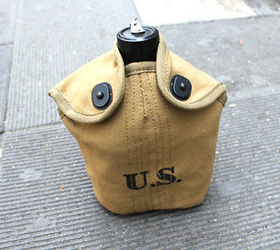 Wwii Us Army Gi M1910 Canteen Cover