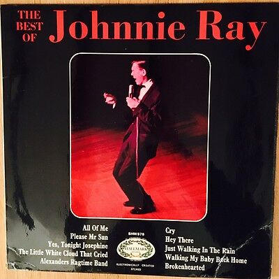 "Johnnie Ray ' The Best Of ' 1966 Vintage 12"" Vinyl Record LP"