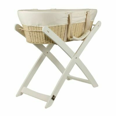 Bebecare Baby Bassinet Moses Basket + Stand White #`B0401