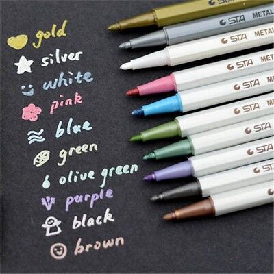 New Colorful Waterproof Permanent Paint Marker Pen Album DIY Dauber Rubber Metal