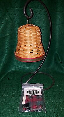 2000 Noel Holiday Longaberger Basket Bell With Ribbon & Wrought Iron Stand