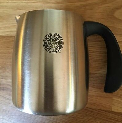 Starbucks Coffee 2006 Stainless Steel Milk FROTHER Jug Pitcher Cup - Old Logo