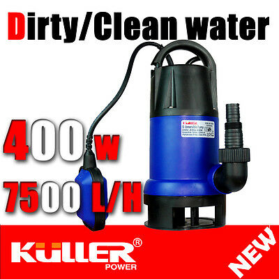 """NEW KULLER 400w Electric Dirty water Clean Water Submersible Pump 1"""" 1/4"""" 1/2"""""""